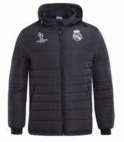 ingrosso tuta spesso-2018 19 giacca Real Madrid più spessa MODRIC ASENSIO VINICIUS JR ISCO manica lunga calcio spessa tuta cerniera tuta invernale caldo felpa con cappuccio