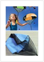 Wholesale kids play outdoors - Parachute Launcher land UFO Sky Diver With Figure Soldier Kids Children Outdoor Sport Play Toys Best Christmas Gifts Child Parachuts XJ 005