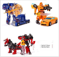 Wholesale toy truck puzzles for sale - Educational Toy for boys Transformer Toys Robot Puzzle Children New Model Toy Christmas gift With Weapon Cards for over years kids