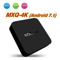 обновить поле mxq оптовых-MXQ Pro 4K MXQ-4K Smart Android TV Box Rockchip Box TV Android 7.1 Потоковый медиаплеер WiFi H.265 3D HDMI Обновлено