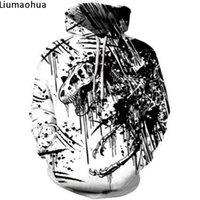 schwarzes weißes sweatshirt großhandel-Dinosaurier Skelett 3D Digitaldruck Schwarz-Weiß-Mix Mode Sweatshirt Winter Hoodie Männer und Frauen bequeme Jacke
