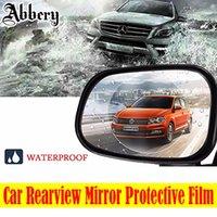 espelho anti nevoeiro venda por atacado-Espelho retrovisor do carro película protetora anti nevoeiro filme anti-reflexo impermeável à prova de chuva espelho retrovisor janela limpar protetora