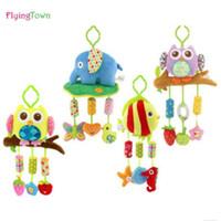 conjuntos de cama embalagem venda por atacado-FlyingTown 0-3 anos de idade New Baby toy Crib gira em torno da cama carrinho de criança jogando Toy Berço Torno Chocalhos de bebê