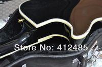 ingrosso chitarra un pezzo nero collo-Chitarra elettrica NERO di alta qualità Chitarra elettrica NERO One piece neck Ebony fingerboard guitar tuner pearl white
