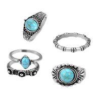5pcs donne uomo anello antico gotico set punk anello di pollice kit per le  mani decorazione dito (argento antico) dbcd2a2d2341