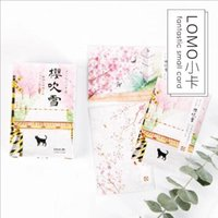 Wholesale Blossom Cards - 0827 28pcs pac 80x52mm Creative Cherry blossoms Lomo Cards Greeting Cards Birthday Gift Message card