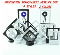 Wholesale acrylic jewelry display transparent - Suspended Transparent Jewelry Display Ring Box Props Acrylic Jewelry Necklace Jade Box New Wholesale free shipping