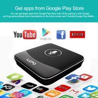 google tv boxes venda por atacado-Original ilepo caixa de tv de controle de voz do google android 7.1 s905w caixa de tv inteligente suporte youtube 4k netflix hd stalker wi-fi lan