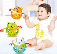 ingrosso bambino 12months-New Bendy Baby Walker Rattles Sviluppa Baby Intelligence Baby Toys 0-12Months Babies Sonaglio in plastica a campana