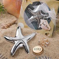 ingrosso regali di partito di tema della spiaggia-100pcs Starfish Bottle Opener Beach Tema regalo di nozze Bomboniere Bridal Shower Ideas Party Keepsake Anniversary Gifts