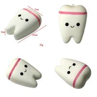 Wholesale teeth phone online – custom Tooth Squishy Slow Rising Jumbo Kawaii Squeeze Squishies Phone Charm White Simulation PU Pendant Decompression Hot Sale jh V