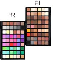 neueste make-up großhandel-Neueste langlebige Lidschatten Make-up 54 Farben schimmern Erde Farbe Lidschatten-Palette 2 Stile wählen