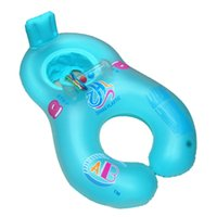 Wholesale baby water safety - 4 Colors Safety Inflatable Baby Beach Pool Water Double Swimming Rings Kid's Training Swim Circle with Floating Seat