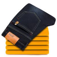 ingrosso i pantaloni jeans hanno il formato di marca 46-Jeans casual di marca invernale Moda uomo Caldi elasticità Jeans Pantaloni maschili slim di alta qualità Pantaloni Jeans da uomo Taglie forti 42 44 46