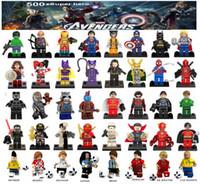 batman super-herói venda por atacado-Minifigures Super Heróis Vingadores Ironman Deadpool Logan Superman Batman Copa do Mundo Messi Neymar Ronaldo Mini Figuras Blocos de Construção