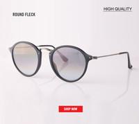 daire gözlüğü toptan satış-Toptan tasarımcı Steampunk Erkek Güneş Gözlüğü 2447 Aynalı Güneş gözlükleri Yuvarlak Daire Sunglass Retro Vintage Gafas Masculino Sol lens 49mm