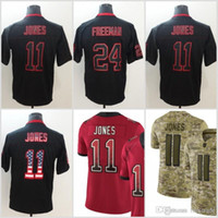 negro camiseta de julio jones al por mayor-11 Julio Jones Atlanta Jerseys 24 Devonta Freeman Falcons 2018 EE. UU. Bandera Impacto se enciende Black Rush Drift Camo Salute to Service