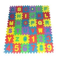 ingrosso bambini di stuoia di gomma piuma-36pcs mini alfabeto numerale schiuma stuoia puzzle bambini giocattolo educativo