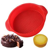 формы силиконового хлеба оптовых-Круглый силиконовый торт для плесени Антипригарная выпечка для печенья сдобы Булочка для пирога 3D Силиконовая выпечка для хлеба