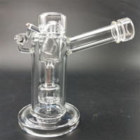 Wholesale special design bong resale online - Glass bong with unique design high quality thick glass pipe give special experience Dab Rig Colored Oil Rigs With Glass Bowl