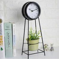 modern metal saat toptan satış-Ücretsiz Nakliye için 5 Inç Modern Minimalist Tarzı Metal Masa Saati Oturma Odası Dekorasyon Masa Saati Dilsiz Masa Saati