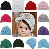 Wholesale korean red hair for sale - Fashion Designer Baby Headband Korean Hair Band Popular Hairbows Solid Caps Kids Accessories Fascinator Head Pieces Newborn Gift For Sale