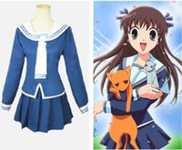 Wholesale carnival costume fruits online – ideas Anime Fruits Basket Tohru Honda Cosplay Costume School uniforms Halloween Unifo