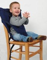 bebek sandalyeleri toptan satış-Taşınabilir Bebek Koltuğu Askı Yemek Sandalye Kapak Emniyet Bebek Besleme Sandalye Kemer Ayarlanabilir Sandalye Taşıyıcıları Koltuk Sırt Çantaları