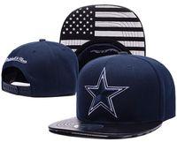 hip hop kovboy şapkaları toptan satış-Ücretsiz Nakliye 100% En Kaliteli 2018 Yeni Cowboys Casquette Kap Dallas Ayarlanabilir Beyzbol Kapaklar hip hop Şapka Snapback kemik Moda baba şapka