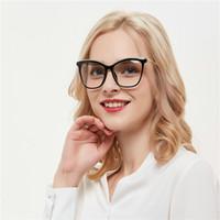 verschreibungsbrillen rahmen großhandel-Übergroße Metall Eyewear Cat Frames Brillen Frauen Trendy Designer Brillen Prescription Brillengestell für Frauen Goggle FML