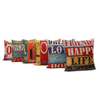 Wholesale gift pillow love online - Styles Linen cm LOVE HOME Household Pillow Cushion Covers Bedroom Set Christmas Gifts Home Decor Party Decoration Craft