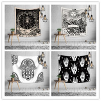 Wholesale print hanging resale online - Euramerican divination astrology tapestry bedroom wall hanging decoration printing tablecloth bed sheet yoga mat beach towel party backdrop