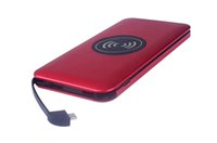 cargador solar de celular para iphone al por mayor-QI Wireless Power Bank Cargador inalámbrico portátil con doble batería externa USB para iPhone 8 X Samsung S8 Note 8 -5