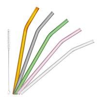 spezielles stroh großhandel-Trinkhalme 9er Spezial Fein gebogene Glaspipette Umwelt Glas Trinkhalme Pipettiertrinkhalme Umweltfreundlich