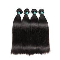renk 32 saç örgüsü toptan satış-İnsan Saç Demetleri Brezilyalı Düz 1 Parça Saç Örgü Demetleri 10-28 inç Doğal Renk Ücretsiz Kargo Remy Saç