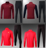 Wholesale Unisex Uniform Pants - 17 18 L FC Soccer Tracksuit Men's Red Full Sleeve Football Training Suits Adult's Thai Quality Sweaters And Long Pants Soccer Uniform S-3XL