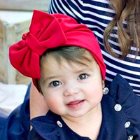 Wholesale india headwear resale online - New Baby Hat Caps Big Bow Europe Style Turban Knot Hats India Bow Hats Kids Children Headwear Hair Accessories BH130