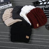 Wholesale bonnet cap for men black resale online - New Brand C Bonnet Beanies Knitted Winter Caps Skullies Winter Hats For men women Outdoor Ski Sports Beanie Gorras