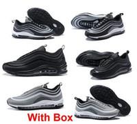 ücretsiz çalışma kutusu toptan satış-97 ultra UL PRM Tripel 97 Ultra Gümüş Siyah Gümüş Bullet BEYAZ Kutusu Ile 3 M Premium Koşu Ayakkabıları Erkekler Kadınlar ücretsi ...