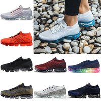 Wholesale Women Casual Shoes Woven - Vapor Mexes Newest Running Shoes Weaving Vapormax Ourdoor Athletic Sporting Walking Sneakers for Women Mens Blue Fashion Casual Size 36-45