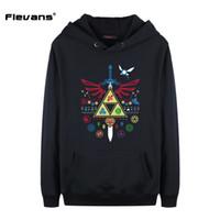 Wholesale legend zelda hoodie - Flevans The Legend of Zelda Printed Hoodies Hot Men Sweatshirts Fashion Hooded Brand Outwear Long Sleeve Hoodie