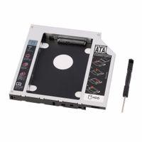 portable ata achat en gros de-Nouveau disque dur Caddy Serial ATA Disque dur Disque HDD SSD adaptateur Caddy Plateau pour PC Ordinateur portable