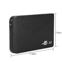 usb sdd sata kablosu toptan satış-USB Kablosu SSD Sabit Disk Sürücüsü için USB2.0 2.5 inç SATA HDD Muhafaza Harici Saklama Kutusu Kutusu