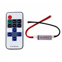 çıkış 24v 12v güç kaynağı toptan satış-LED şerit ışık kontrolörü 11key RF kablosuz uzaktan kumanda parlaklık ayarlanabilir 12 V 24 V güç kaynağı 6A çıkışı
