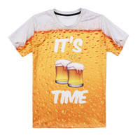 d9a1730d78c5 Alisister Beer Print T Shirt It 'S Time Letter Women Men Funny Novelty T -Shirt  Short Sleeve Tops Unisex Outfit Clothing Dropship