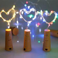 lámparas con forma de animal al por mayor-2 M 20LED lámpara de corcho en forma de tapón de la botella de vidrio de vino LED luces de cadena de alambre de cobre para la fiesta de Navidad de boda de Halloween