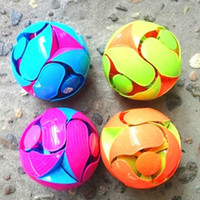 Wholesale magic cans - Magic Ball Can Shape Color Change Amazing Toys Children Hand Throwing Motion Flexible Bloom Flower Balls Kids Novelty Games 2 88qm Z