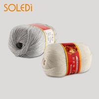 seda peinada al por mayor-Nueva 50g 1Ball de lana peinada de seda suave de cachemira cálida artesanía de bebé hilado de tejer '