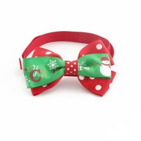 Wholesale christmas dog hair accessories - 50Pcs Handmade Red Green Ribbon Dog Tie Christmas Bow Ties For Dogs 6033024 Pet Supplies Wholesale