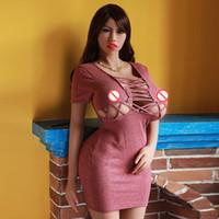 ingrosso bello giocattolo della bambola del sesso del silicone-Silicone TPE170cm Sex Doll Modello Adulto Oral Vagina Sesso anale Love Love Sexy Girl Toy Uomo Beautiful Stack Grandi seni e culo più postura